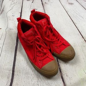 Converse all star red bight top sneakers no box 12